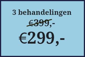 3 sessies voor slechts €299,-
